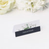 Green White Navy Modern Botanical Wedding Name Place Cards Green White Navy Modern Botanical Wedding Invites