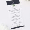 Green White Navy Modern Botanical Wedding Menus Green White Navy Modern Botanical Wedding Invites