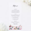 Pretty Protea Native Floral Wedding Menus Native Floral Wedding Invitations - Pretty Protea