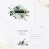 Natural Chic Green Modern Botanical Wedding Thank You Postcards Natural Chic Green Modern Botanical Wedding Invitations