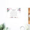 Native Floral Wedding Invitations