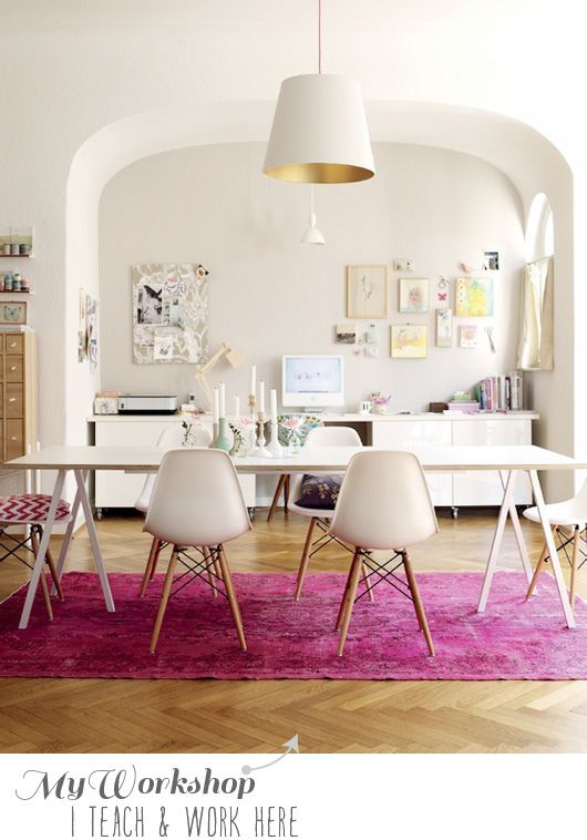 pink rug dining room studio home colour scheme
