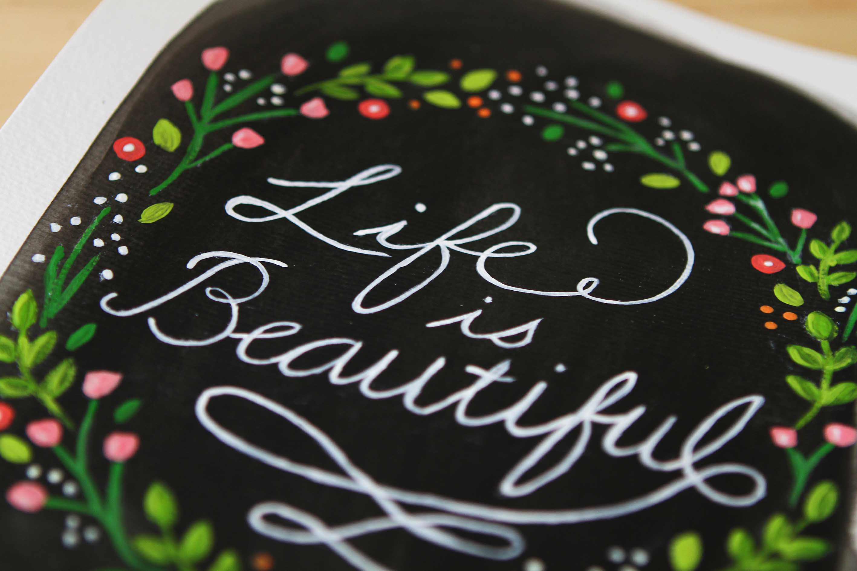 adelaide wedding stationery hand lettering painting