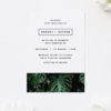 Modern Monstera Tropical Leaves Wedding Invitations