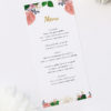 Romantic Blush Roses Elegant Wedding Menus Romantic Blush Roses Elegant Wedding Invitations