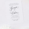 Elegant Vintage Calligraphy Script Wedding Invitations