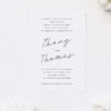 Hand Writing Cursive Script Wedding Invitations