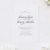 Sophisticated Cursive Calligraphy Script Formal Wedding Invitations