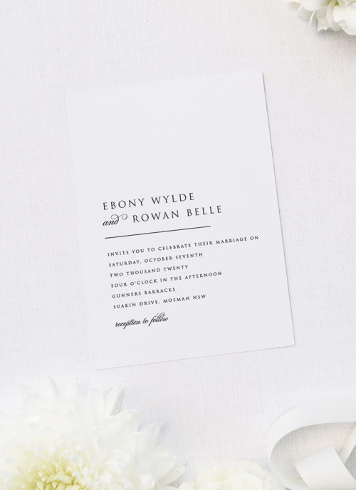 Simple Minimal Classic Elegant Writing Wedding Invitations