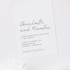 Classy Hand Writing Cursive Wedding Invitations