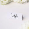 Pretty Elegant Hand Writing Wedding Name Place Cards Pretty Elegant Hand Writing Wedding Invitations
