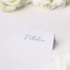 Elegant Thin Line Cursive Calligraphy Script Name Place Cards Elegant Thin Line Cursive Calligraphy Script Wedding Invitations