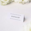 Simple Writing White Wedding Name Place Cards Simple Writing White Wedding Invitations