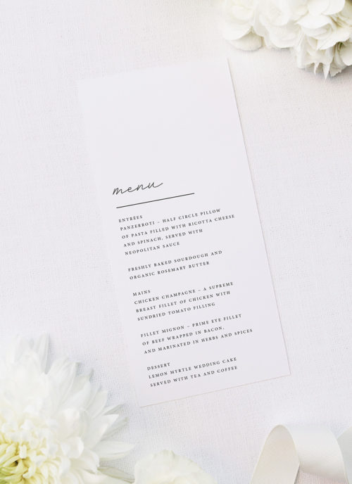Elegant Hand Writing Cursive Wedding Menus Elegant Hand Writing Cursive Wedding Invitations