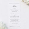 Beautiful Formal Script Calligraphy Wedding Menus Beautiful Formal Script Calligraphy Wedding Invitations