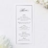 Timeless Classic Border Beautiful Calligraphy Wedding Menus Timeless Classic Border Beautiful Calligraphy Wedding Invitations