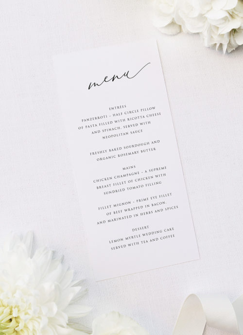 Romantic Flowing Calligraphy Names Wedding Invitations