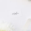 Elegant Calligraphy Modern Wedding Name Place Cards Simple Flowy Cursive Script Wedding Invitations