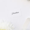 Elegant Flowy Cursive Calligraphy Name Cards Elegant Flowy Cursive Calligraphy Writing Wedding Invitations