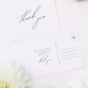 Romantic Flowing Calligraphy Names Wedding Thank You Postcards Romantic Flowing Calligraphy Names Wedding Invitations