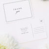Stunning Border Elegant Classic Wedding Thank You Postcards Stunning Border Elegant Classic Wedding Invitations