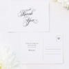Elegant Vintage Calligraphy Script Wedding Thank You Postcards Elegant Vintage Calligraphy Script Wedding Invitations