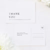 Large Classic Font White Wedding Thank You Postcards Large Classic Font White Wedding Invitations