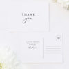 Classic Font Elegant Cursive Writing Wedding Thank You Postcards Classic Font Elegant Cursive Writing Wedding Invitations
