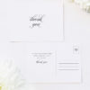 Sophisticated Cursive Calligraphy Script Formal Wedding Thank You Postcards Sophisticated Cursive Calligraphy Script Formal Wedding Invitations