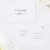 Simple Classic Elegant White Wedding Thank You Postcards Simple Classic Elegant White Wedding Invitations