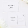 Large Bold Classic Font Border Wedding Thank You Postcards Large Bold Classic Font Border Wedding Invitations