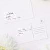 Simple Minimal Classic Elegant Writing Wedding Thank You Postcards Simple Minimal Classic Elegant Writing Wedding Invitations