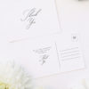 Romantic Calligraphy Wedding Thank You Postcards Romantic Calligraphy Wedding Invitations