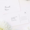 Classy Hand Writing Cursive Wedding Thank You Postcards Classy Hand Writing Cursive Wedding Invitations