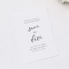 Simple Flowy Cursive Script Wedding Invitations
