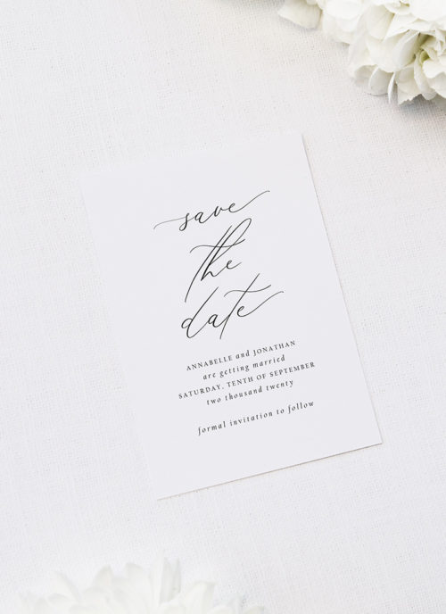 Stunning Elegant Beautiful Calligraphy Wedding Invitations