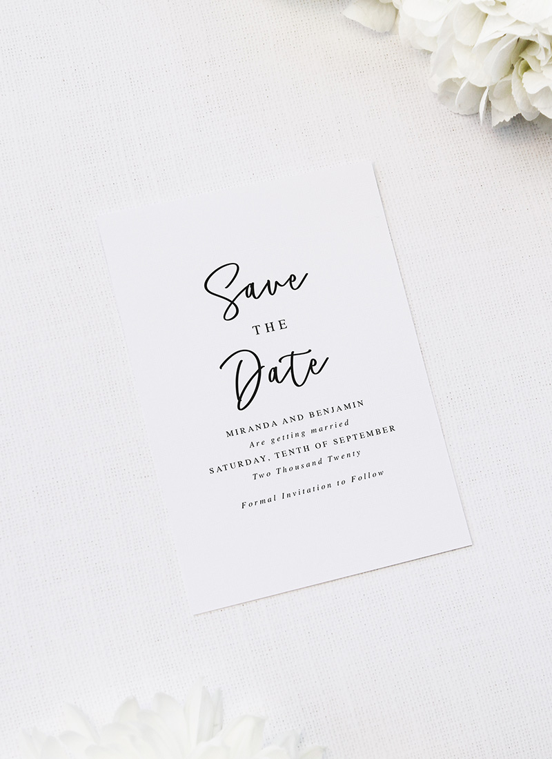Elegant Cursive Hand Script Wedding Invitations