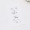Beautiful Formal Script Calligraphy Save the Dates Beautiful Formal Script Calligraphy Wedding Invitations