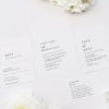 Large Classic Font White Wedding Invitations