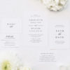 Sophisticated Classic Elegant Stylish Wedding Invitations