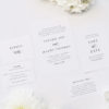 Simple Timeless Classy Wedding Invitations