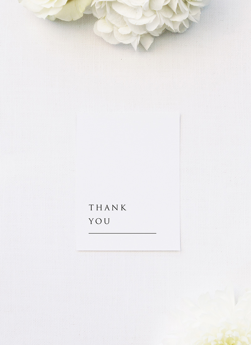 Classic Elegant Font Wedding Thank You Cards Classic Elegant Font Wedding Invitations