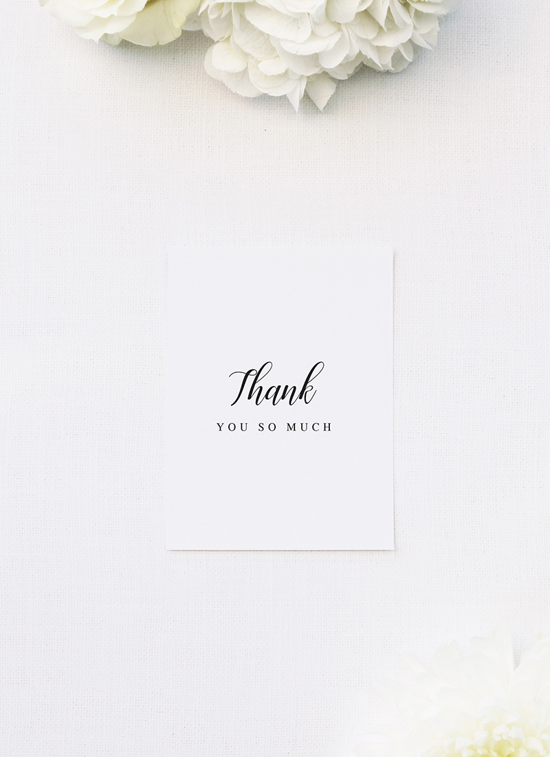 Simple Pretty Cursive Calligraphy Writing Wedding Thank You Cards Simple Pretty Cursive Calligraphy Writing Wedding Invitations