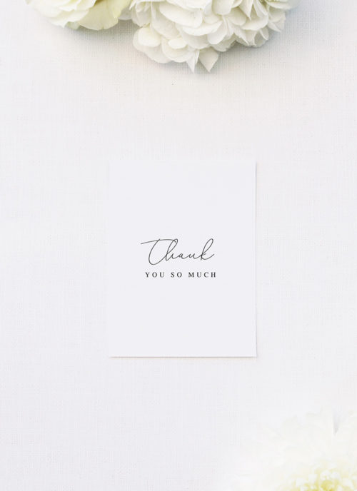 Elegant Thin Line Cursive Calligraphy Script Wedding Thank You Cards Elegant Thin Line Cursive Calligraphy Script Wedding Invitations