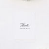 Elegant Hand Script Writing Wedding Thank You Cards Elegant Hand Script Writing Wedding Invitations