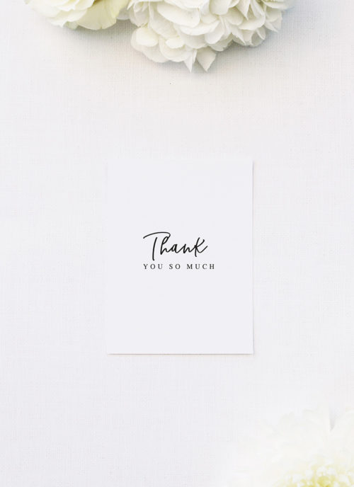 Elegant Cursive Hand Script Wedding Thank You Cards Elegant Cursive Hand Script Wedding Invitations