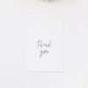 Simple Hand Script Classic Wedding Thank You Cards Simple Hand Script Classic Wedding Invitations