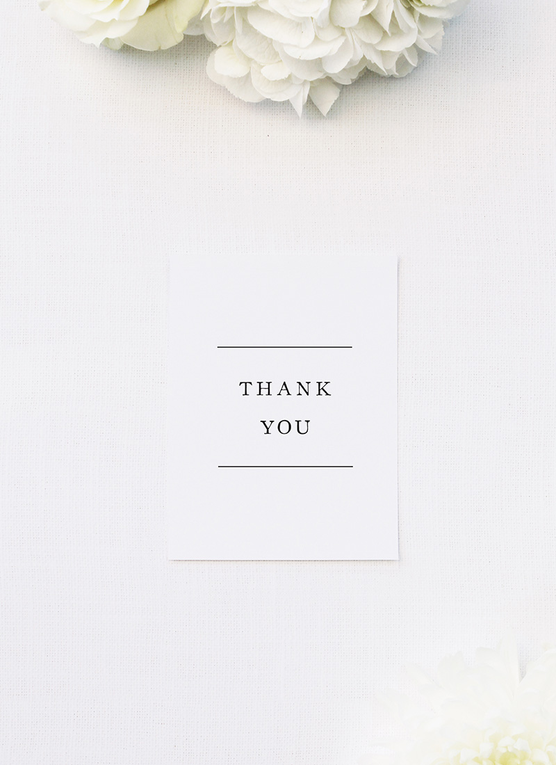 Simple Writing White Wedding Thank You Cards Simple Writing White Wedding Invitations