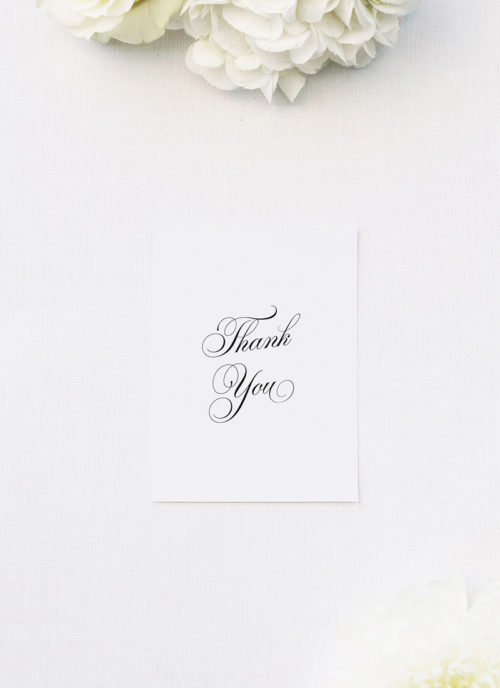 Timeless Classic Border Beautiful Calligraphy Wedding Thank You Cards Timeless Classic Border Beautiful Calligraphy Wedding Invitations