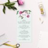 Rose Gold Floral Pink Green Wedding Invitations